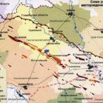 Схема расположения месторождений нефти в Беларуси